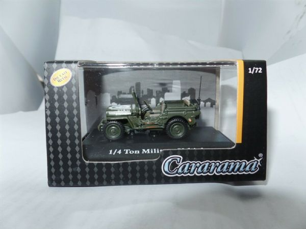 Cararama 90140 1/72 Scale Jeep 1/4 Ton USA American Army Military